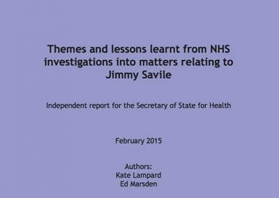 Themes and lessons learned from NHS investigations into matters relating to Jimmy Savile